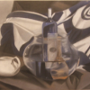 Still life in blue and white