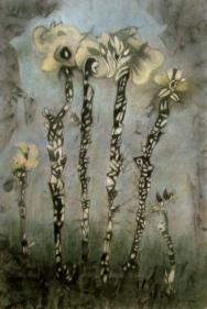 Fleurs oreilles à carreaux