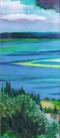 Vue panoramique sur le lac Balaton