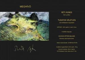 Réti Ágnes kiállítás meghívó - 2018.04.03
